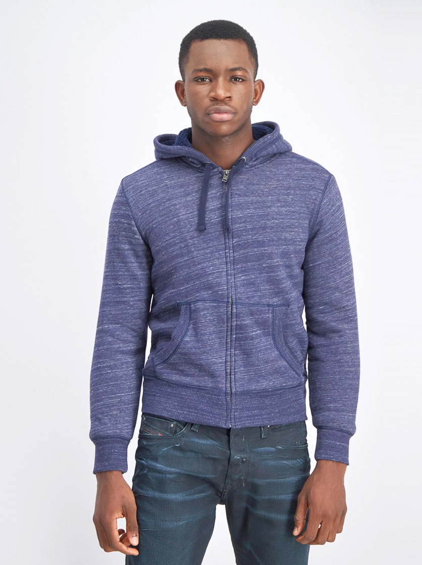 Men's Full Zipper Hooded Sweaters, Navy