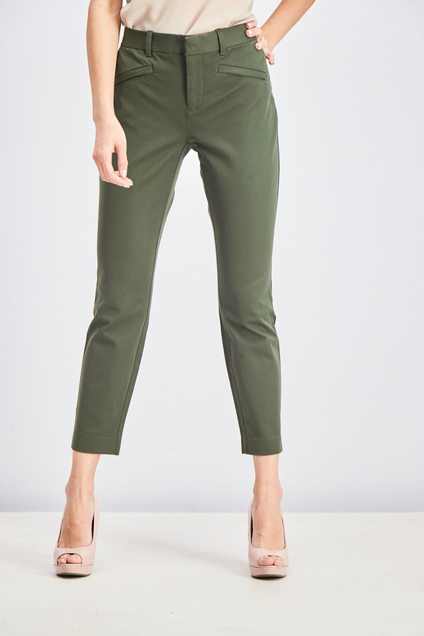 Women's Skinny Ankle Pants, Green