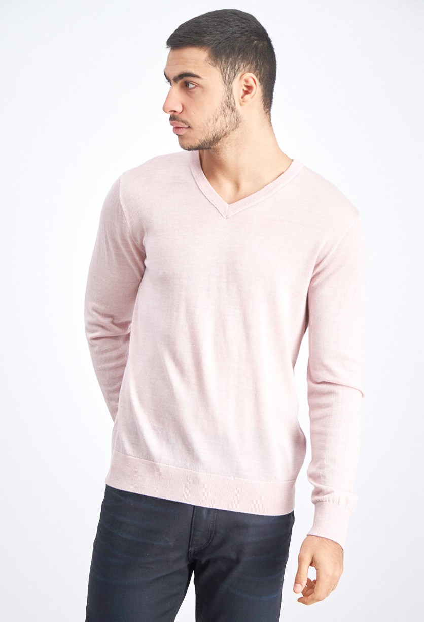 Men's Long Sleeve Sweaters, Pink