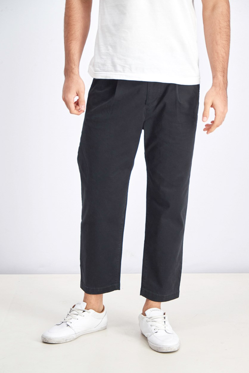 Men's Relaxed Chino Pants, Black