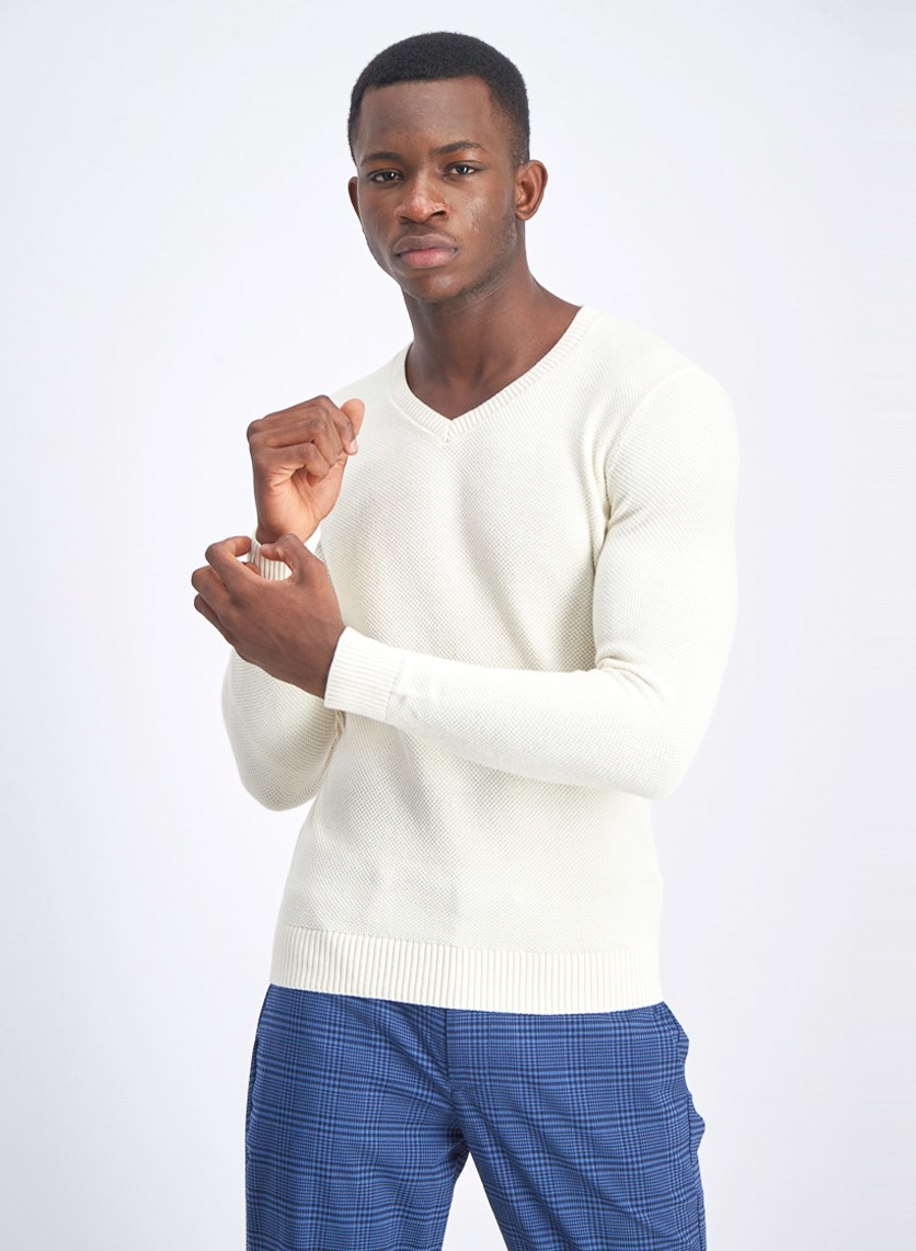 Men's Pullover Sweater, Ivory