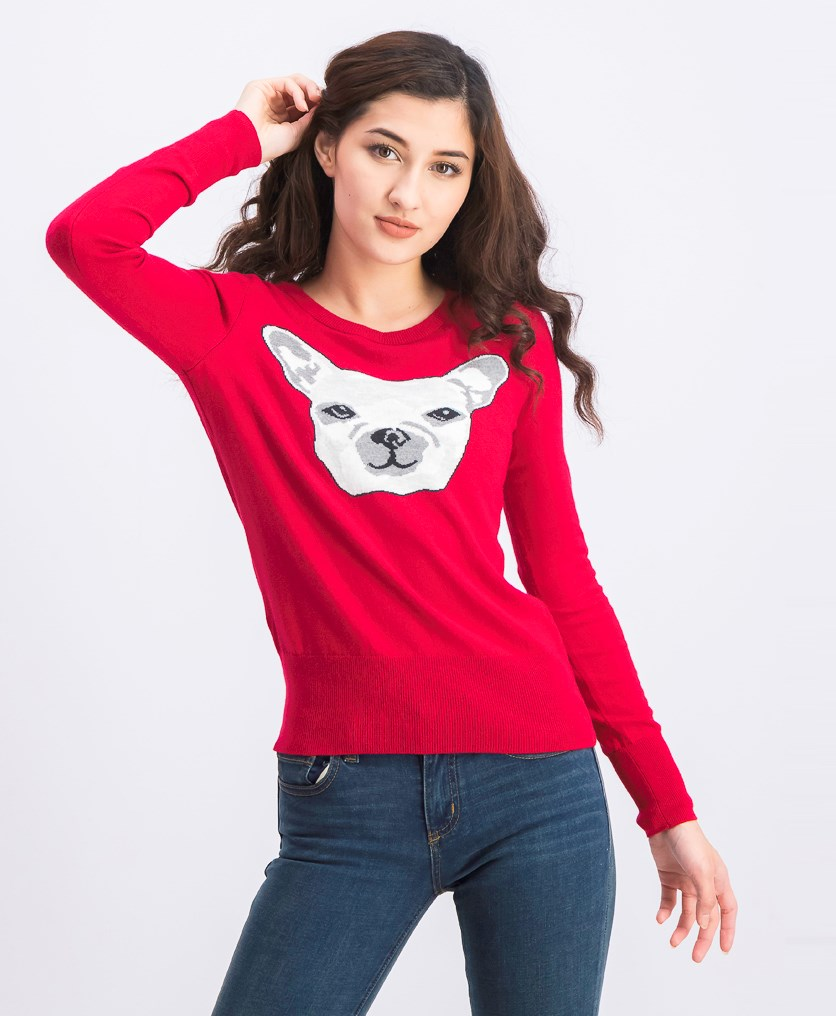 Women's Knitted Sweater, Red