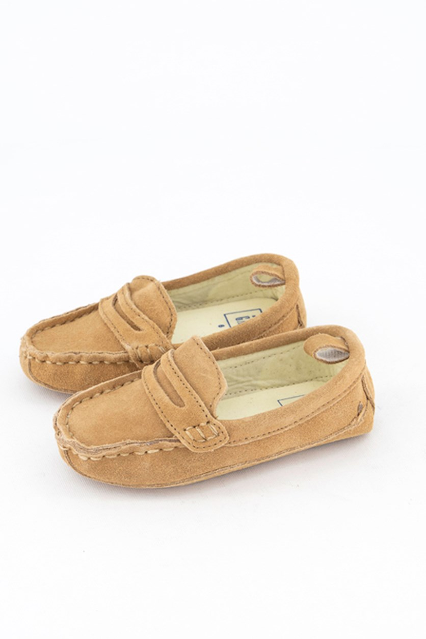 Toddlers Suede Shoes, Khaki/Tan