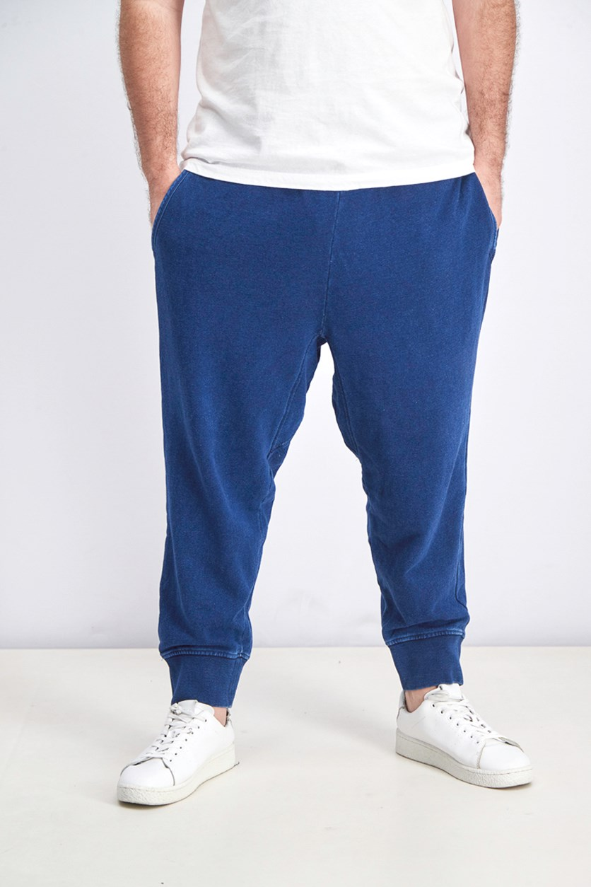 Men's Drawstring Jogger Pants, Navy