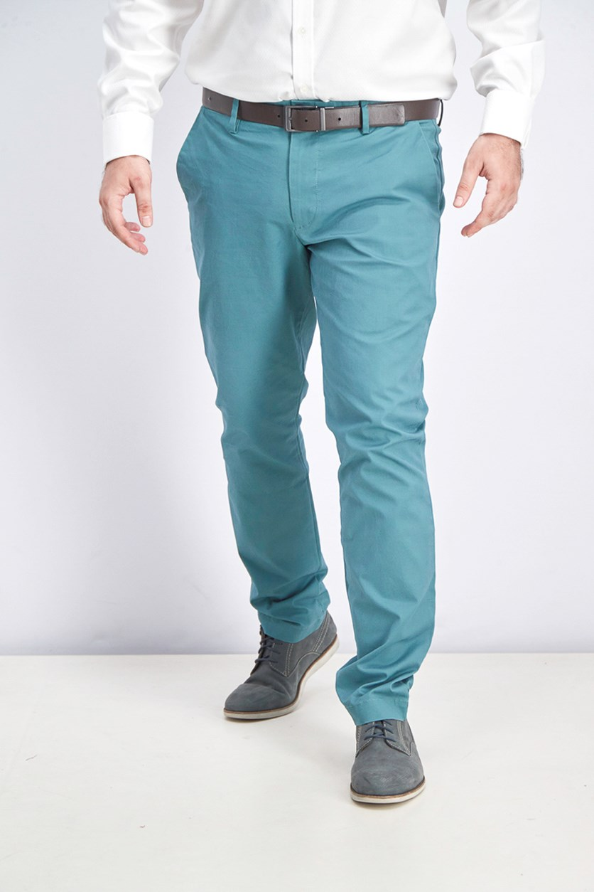 Men's Skinny Pants, Green