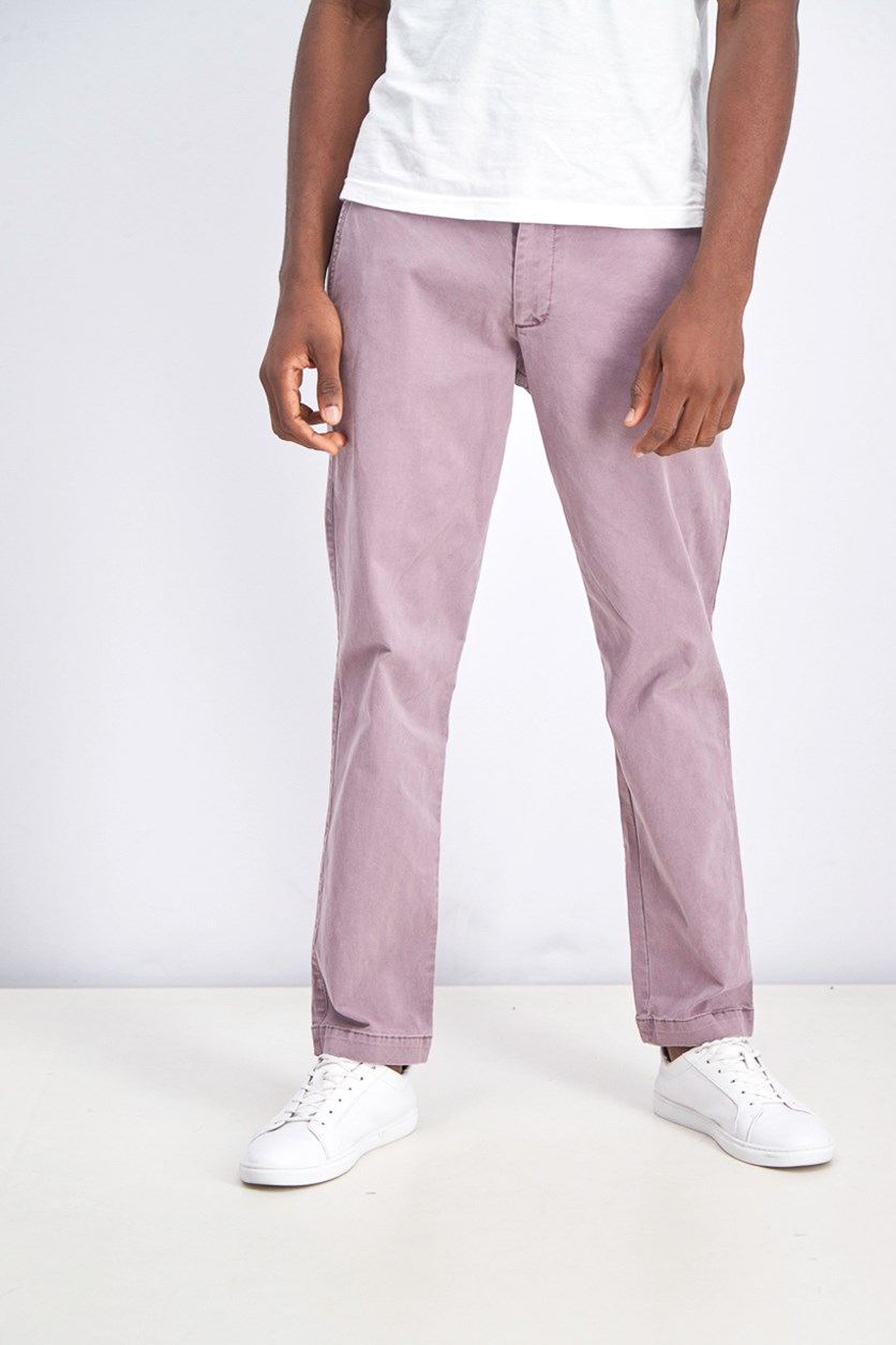 Men's Slim-Fit Vintage Pants, Lilac