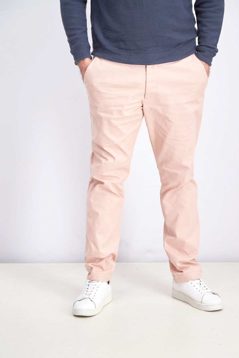 Men's Slim Fit Pants, Willow Pink