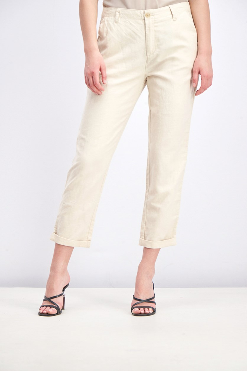Women's Girlfriend Chino Pants, Beige
