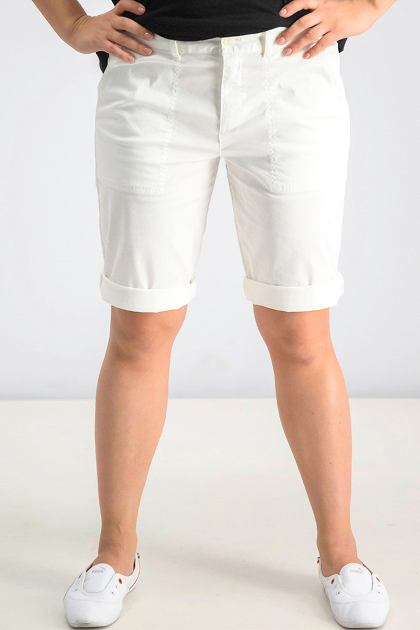 Women's Bermuda Short, White