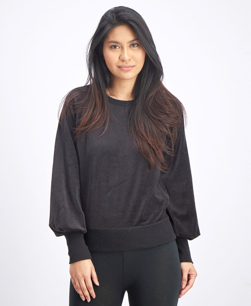 Women's Plain Sweater, Black