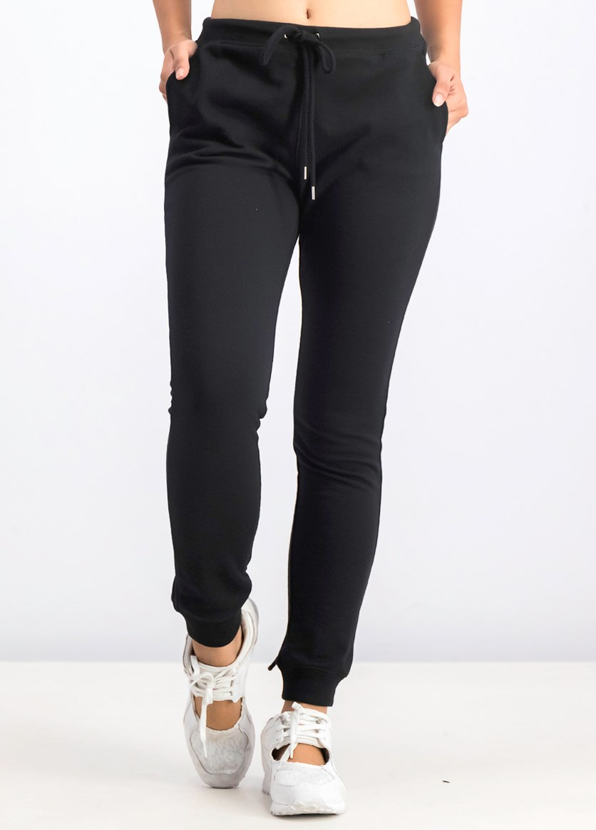 Women's Plain Pants, Black