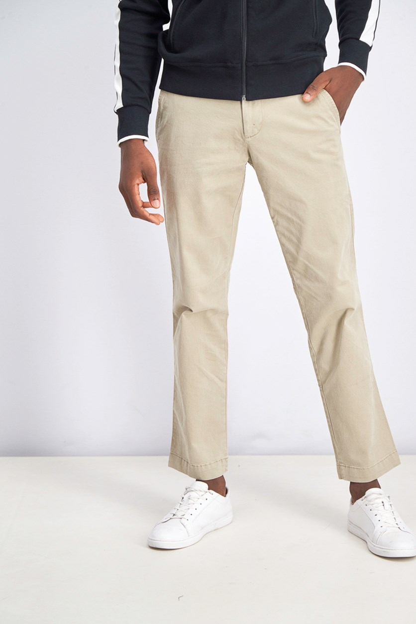 Men's Straight Cut Pants, Beige