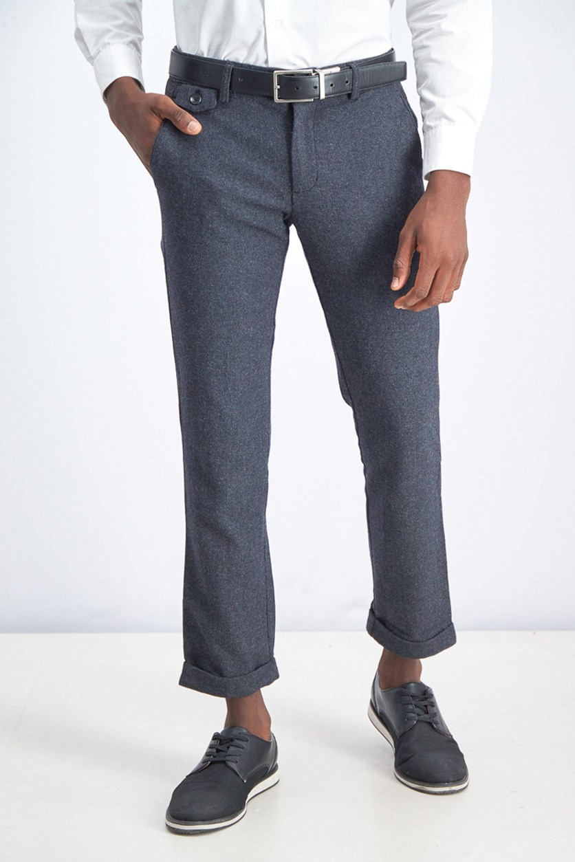 Men's Belt Loops Dress Pants, Charcoal