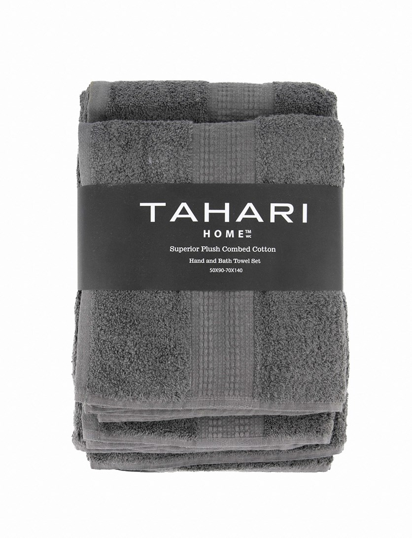 Hand And Bath Towel Set, Charcoal