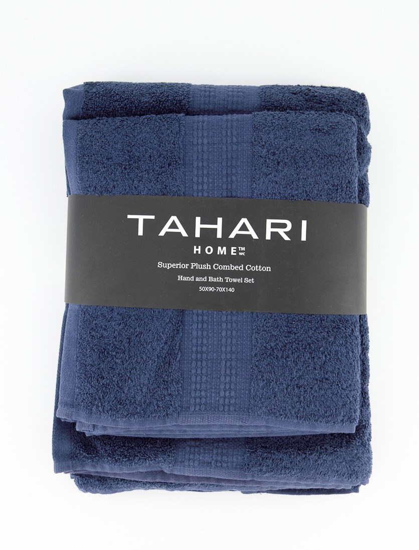 Hand And Bath Towel Set, Navy