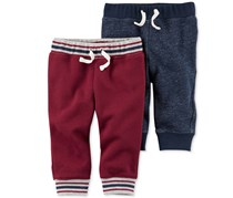 Carters Baby Boy's Thermal Jogger Pants, Dark Red/Navy