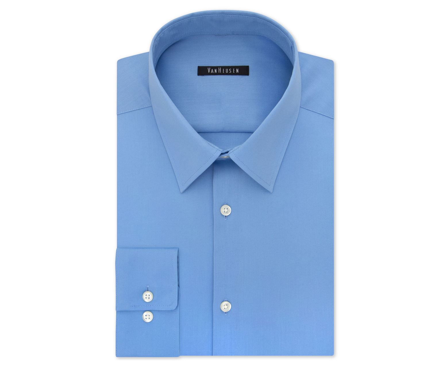 Men's Slim-Fit Flex Collar Stretch Solid Dress Shirt, Blue