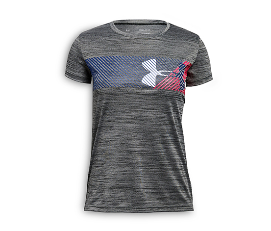 Under Armour Girl's Graphic-Print T-Shirt,  Grey