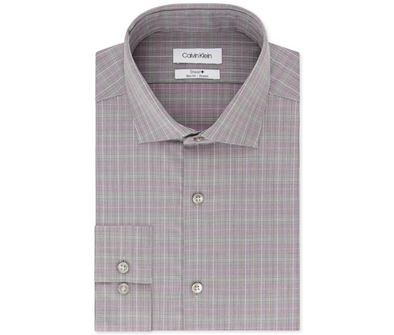 Men's Non-Iron Button Up Dress Shirt, Grey
