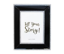 Allure Beaded Picture Frame, Navy