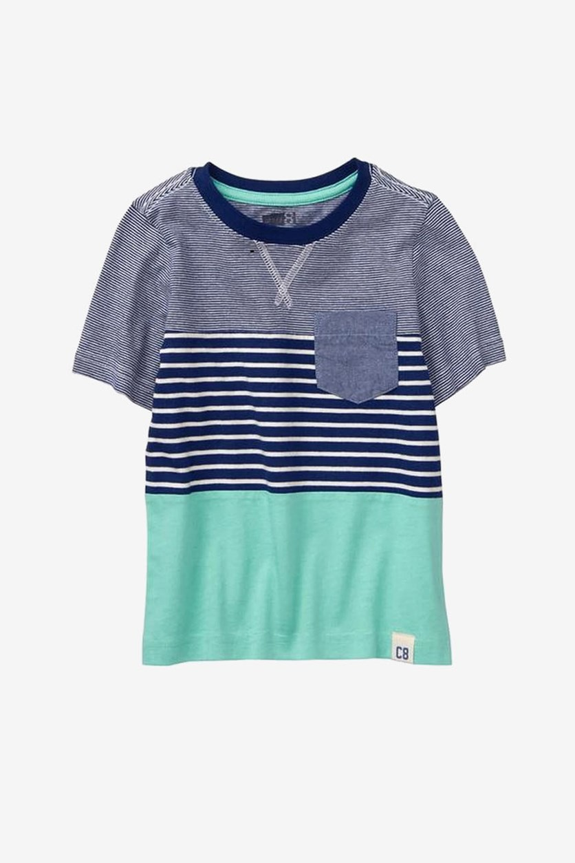 Toddler Boys Stripe T Shirt, Blue/White