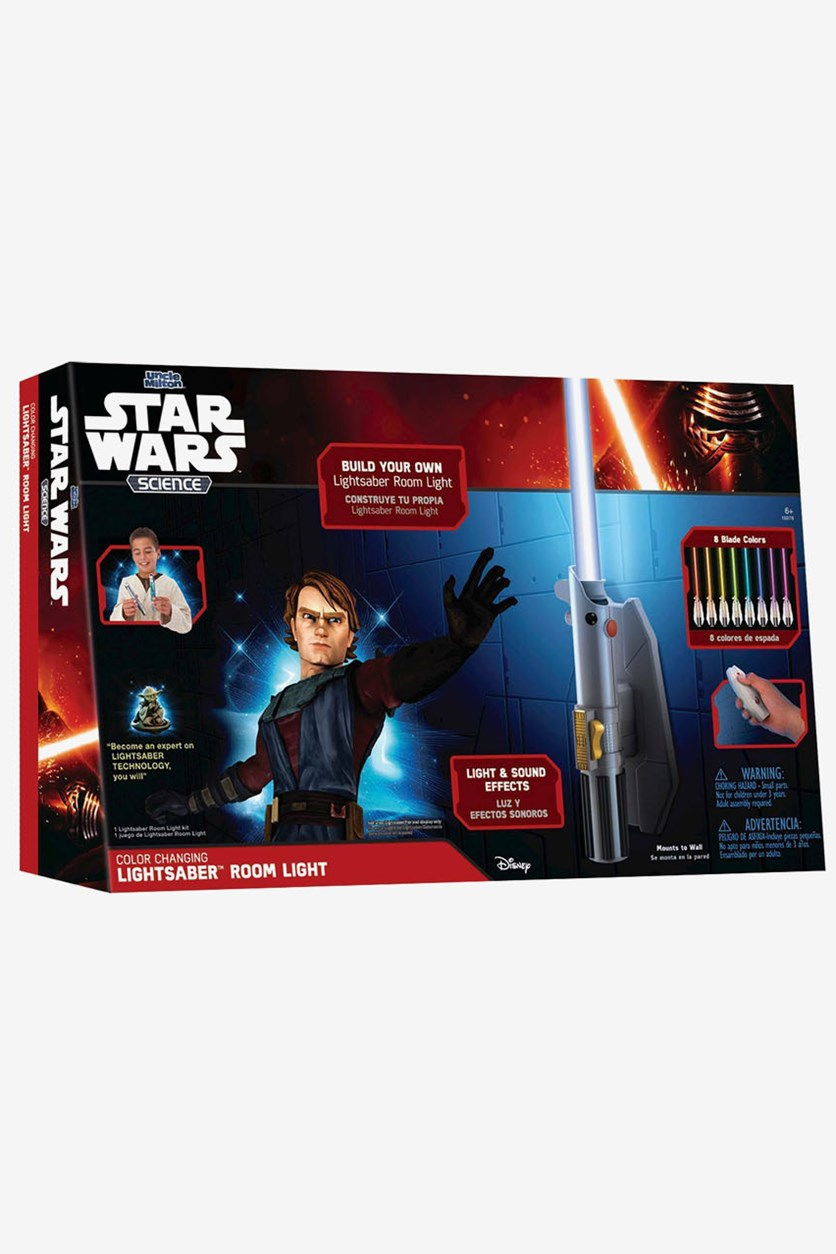 Lightsaber Eight Color Room Light, Black Combo