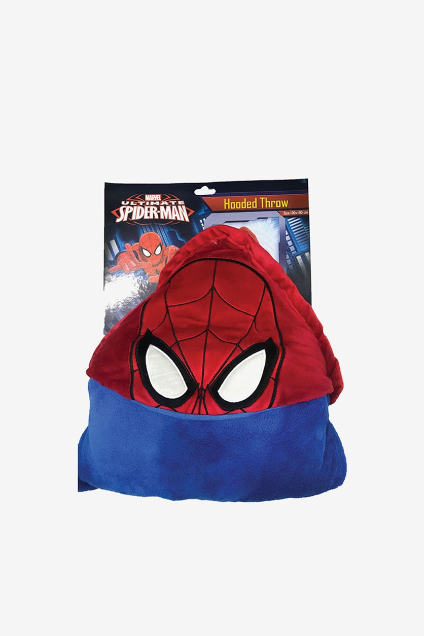 Spiderman Hooded Throw, Red/Blue