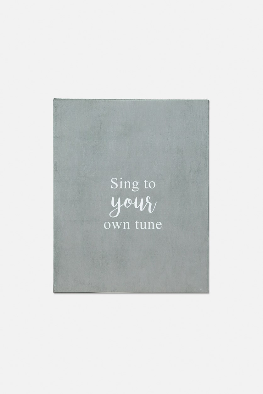 Sing To Your Own Tune Wall Decors, Silver