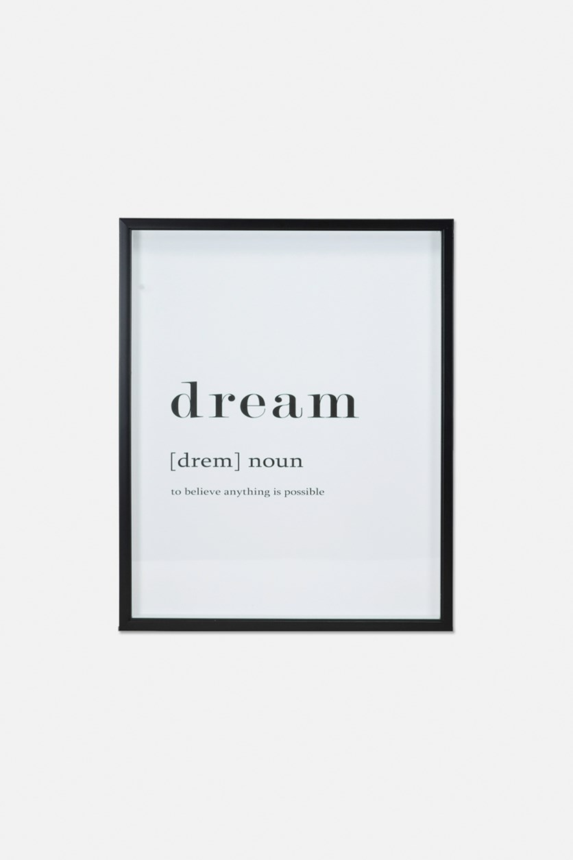 Dream Framed Definition, White/Black