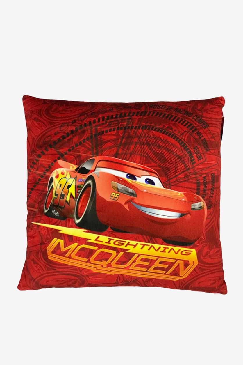 Cars 3 Lightning McQueen Square Plush, Red