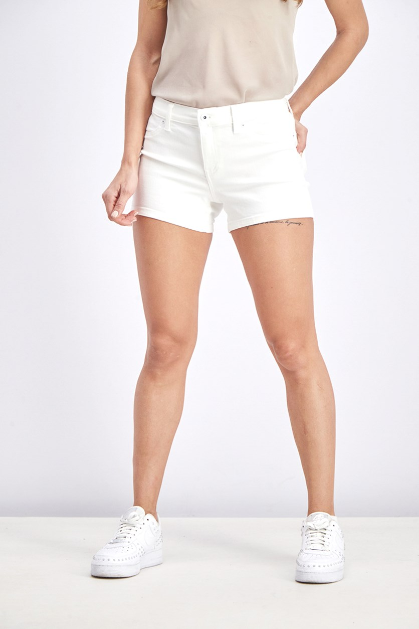 Women's Plain Short, White