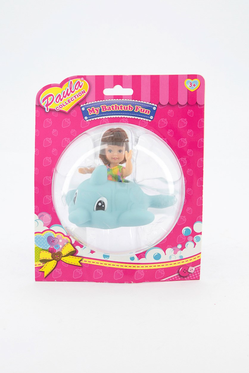 Girl's Fashion Doll Bath Tub Fun Toy, Blue