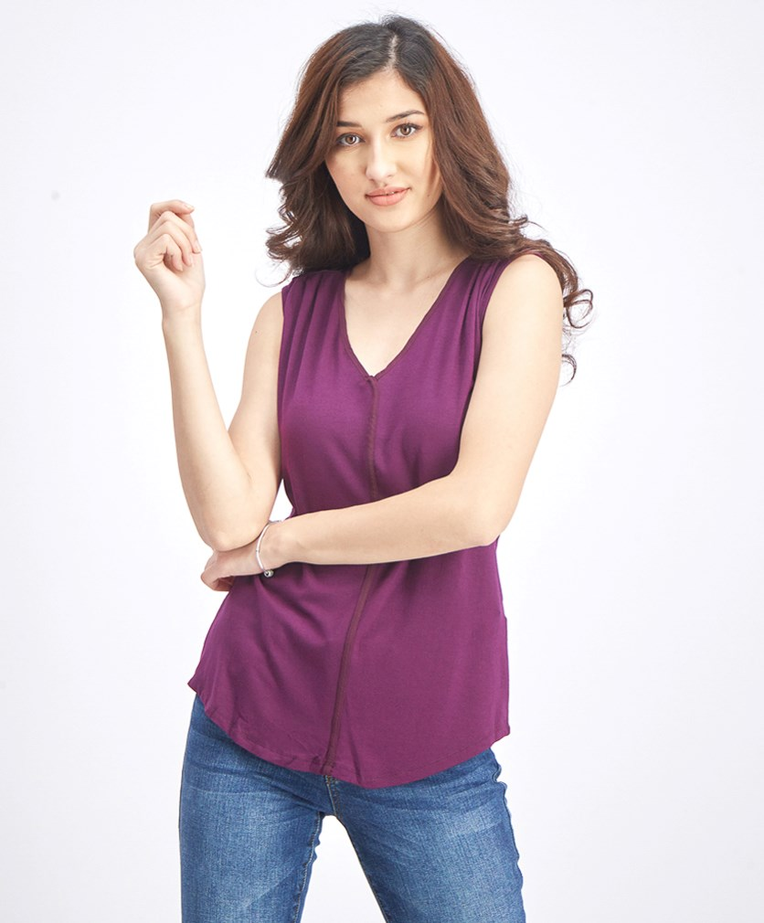 Women's Sleeveless Tops, Purple