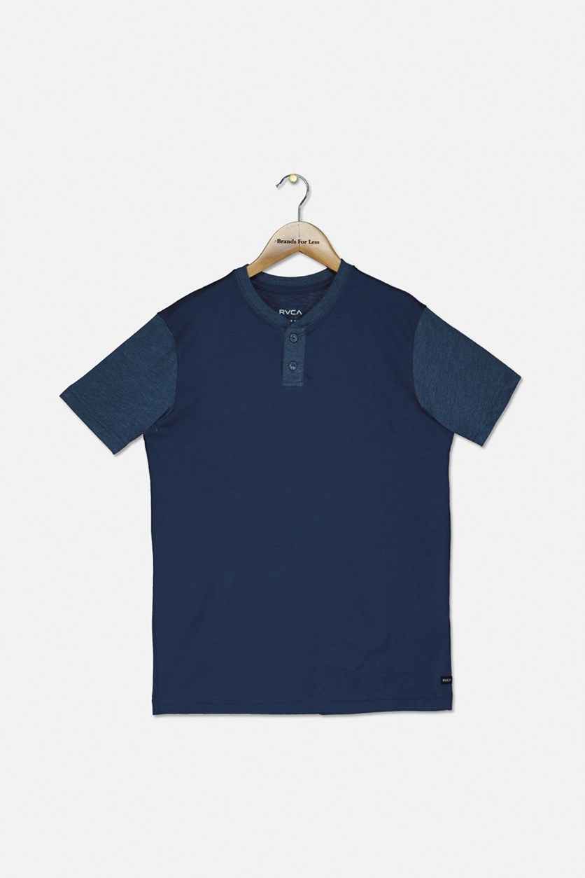 Boy's Pick Up Henley T-Shirt, Indigo