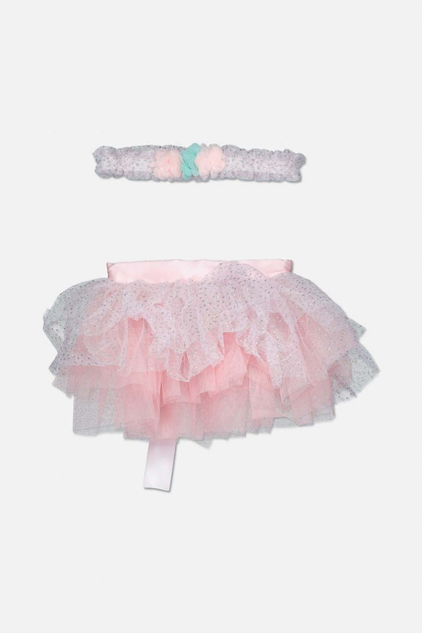 Toddler's Headband & Tutu Set, Peach