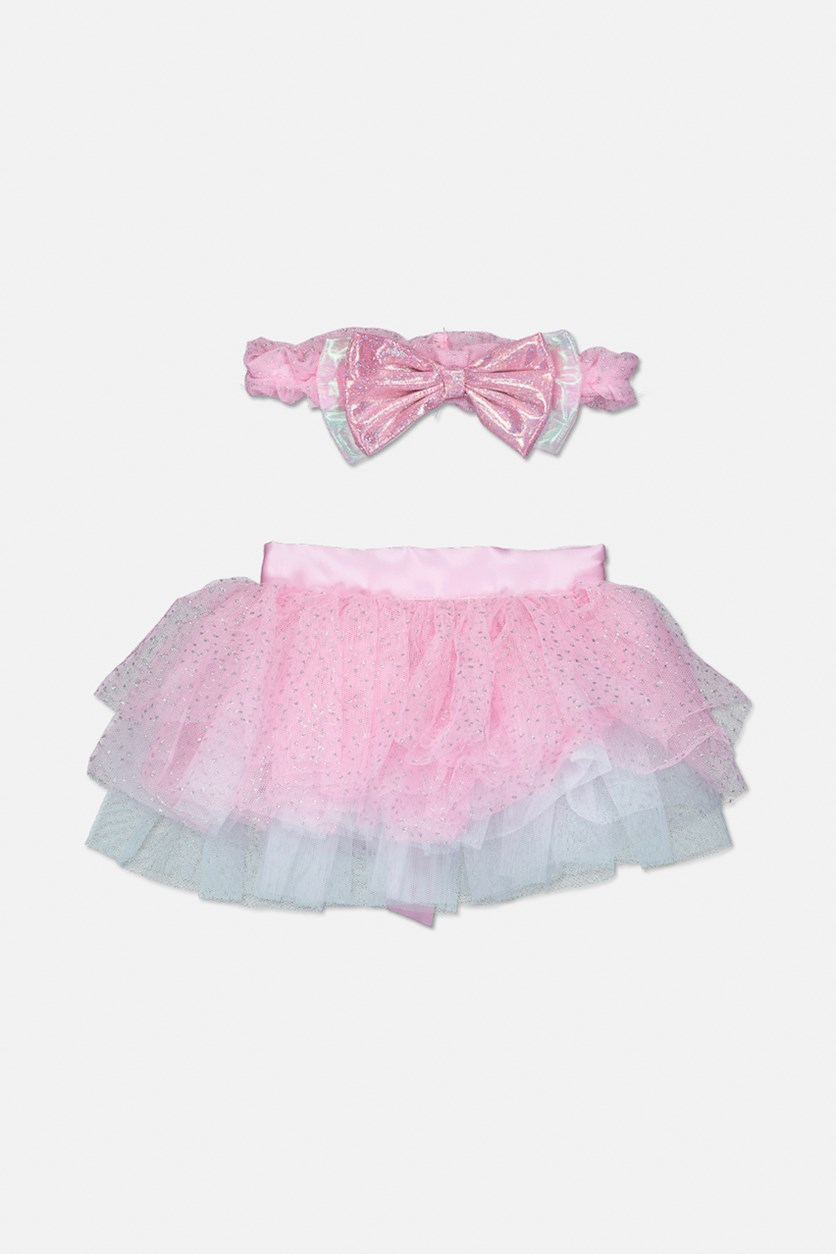 Toddler's Headband & Tutu Set, Pink