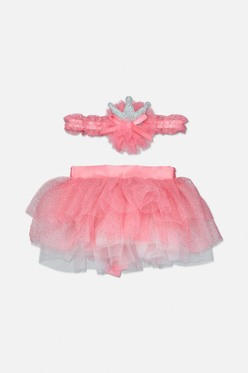Toddler's Headband & Tutu Set, Red