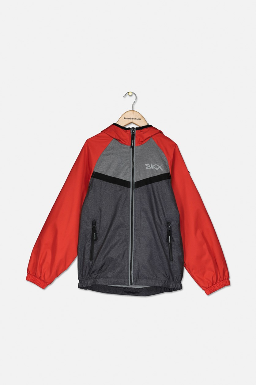 Kids Boys Colorblock Jacket, Red Combo