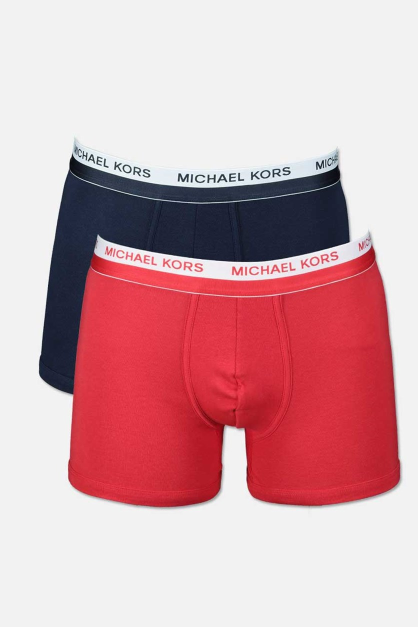 Men's Ultimate Rib Boxer Brief Set Of 2, Navy/Red