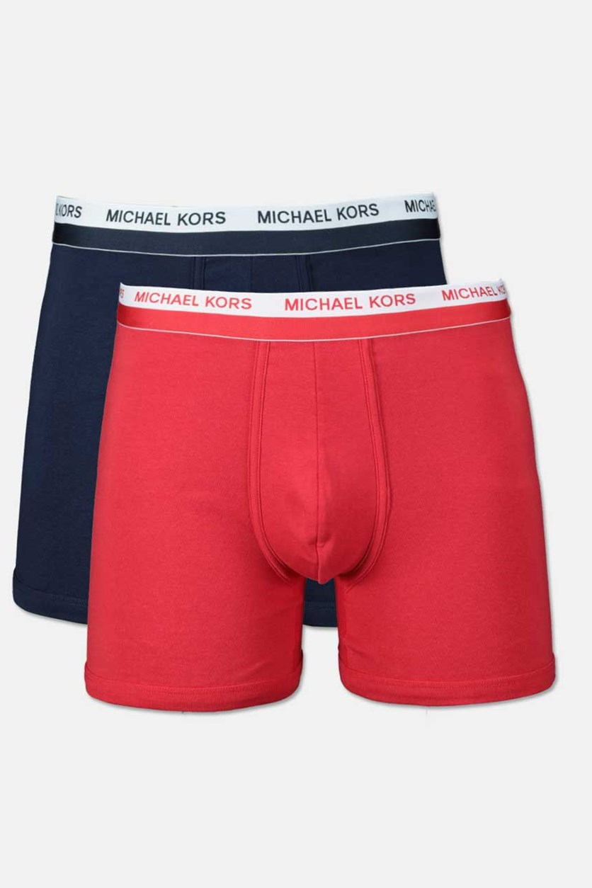 Men's Ultimate Rib 2 Pack Boxer Briefs, Navy/Red