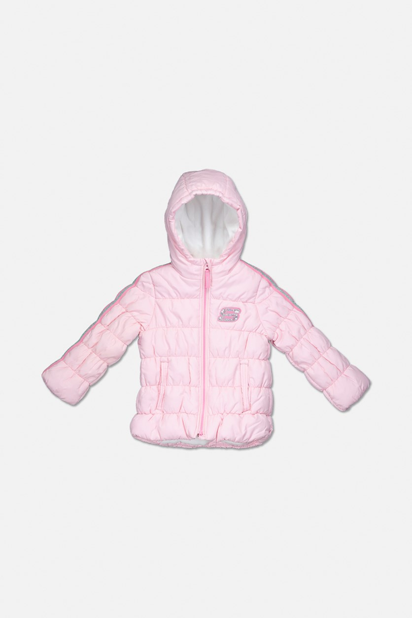 Girl's Hoodie Winter Jacket, Pink