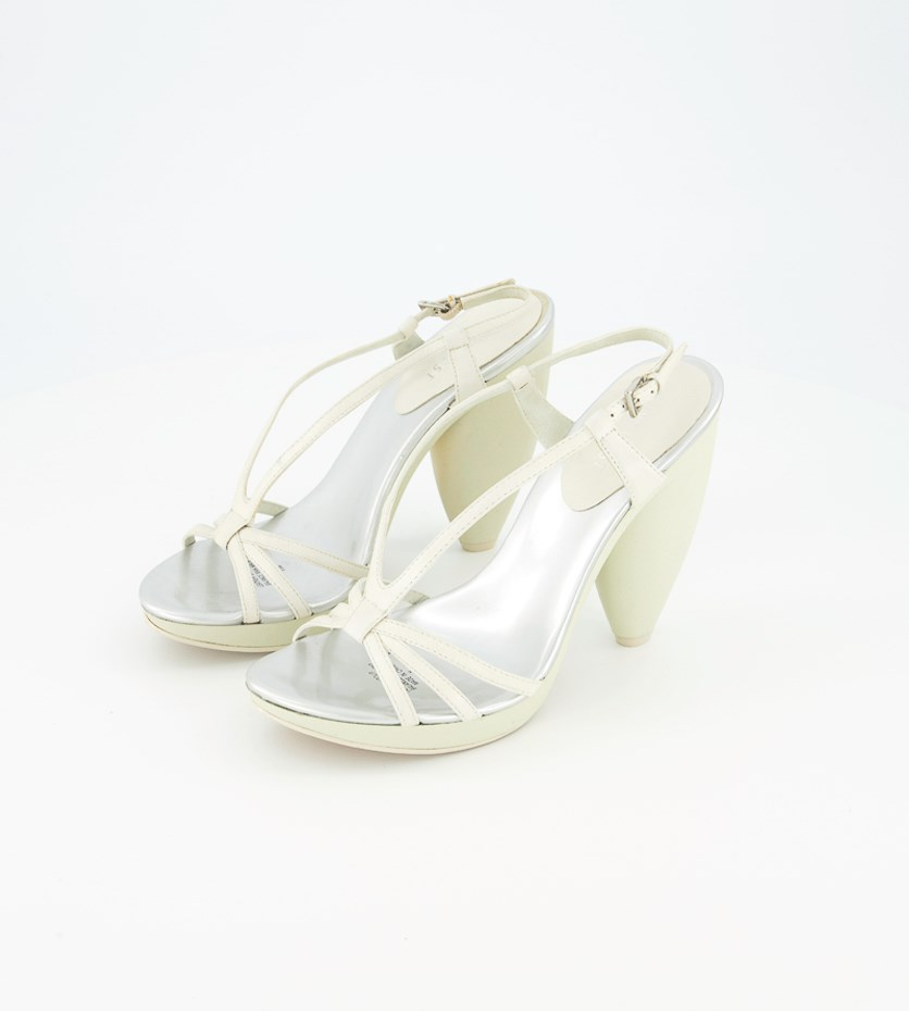 Womens Leather Sandals, Light Green