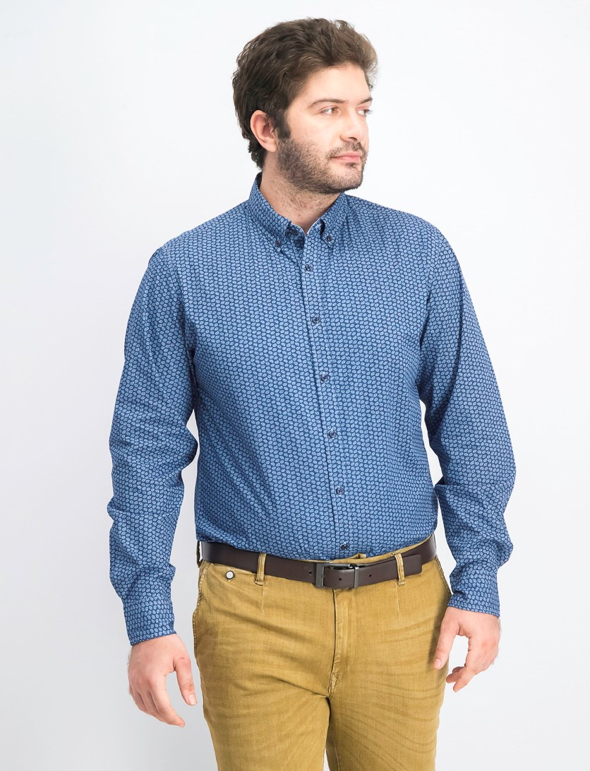 Men's Printed Shirt, Navy