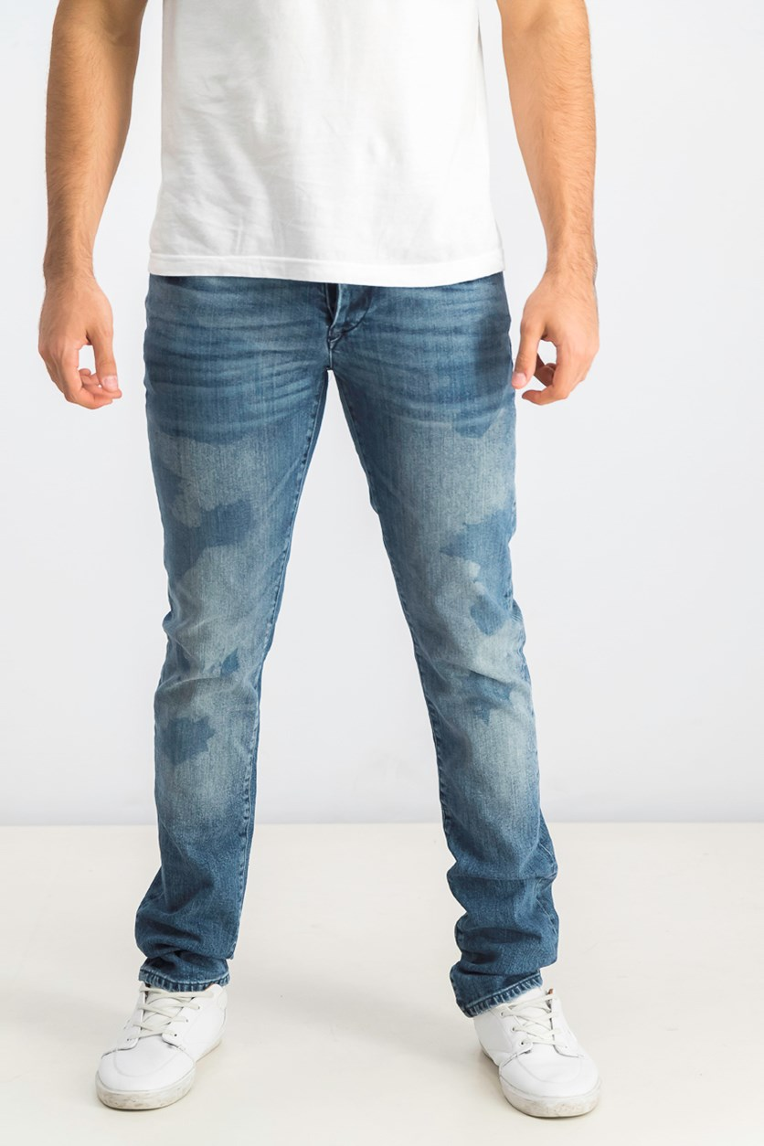 Men's Slim Denim Jeans, Wash Blue