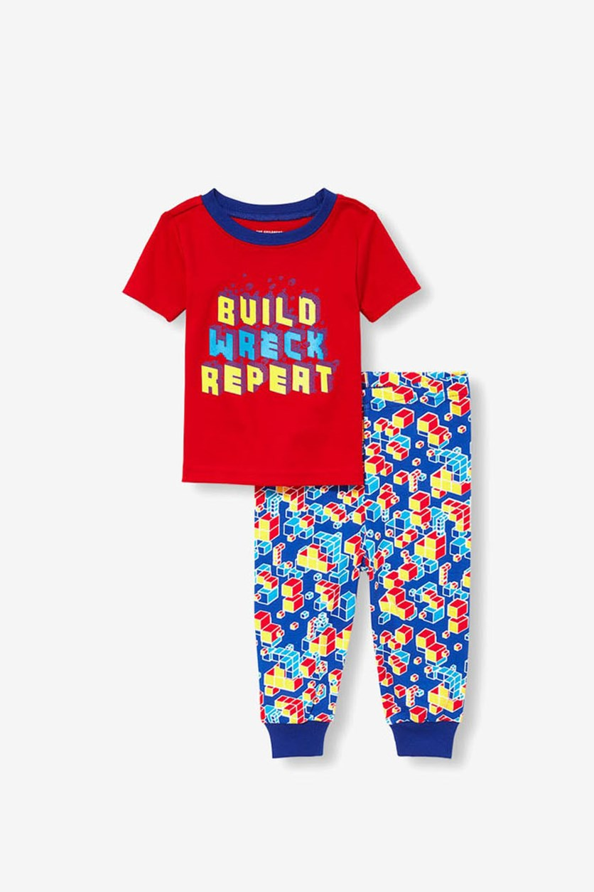 Toddler Boys Graphic 2-Pack Set, Red/Blue Combo