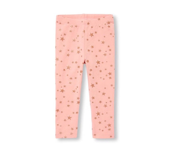 The children's place Girl's Star Print Leggings, Pink