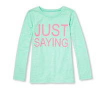 The Children's Place Baby Girl's Graphics T-Shirt, Aqua/Pink