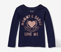 The Children's Place Girl's Graphic Top, Navy