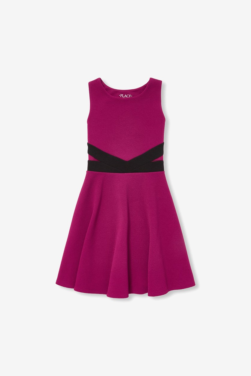 Kids Girls Sleeveless Dress, Rose Parade