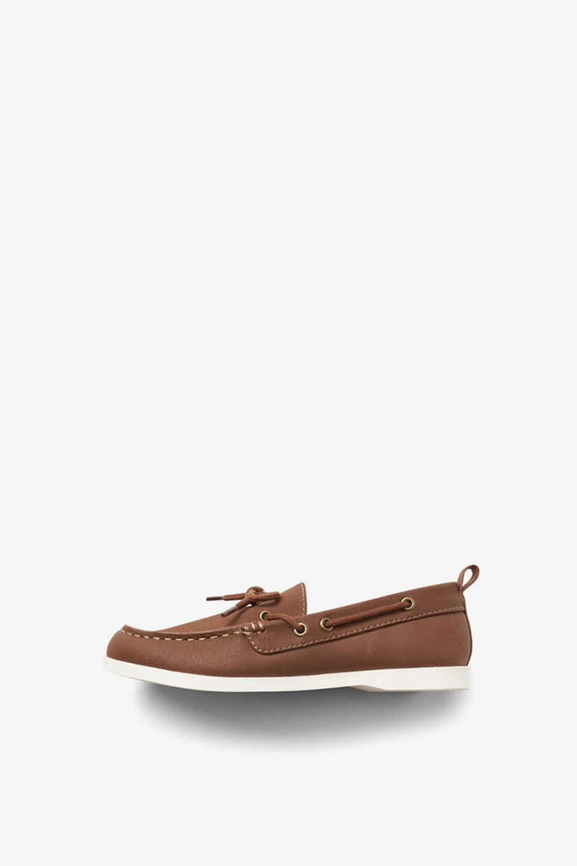 Boy's Boat Shoes, Brown